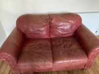 Two Seater Leather Sofa - Free