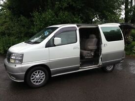 NISSAN ELGRAND TD CAMPER/MPV DAY VAN/HI SPEC/BRAND NEW KITCHEN/MAINS HOOK UP/TABLE/LIKE MAZDA BONGO