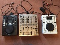 DJ equipment for sale - 2 x CD decks and 1 x mixer