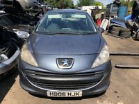 2006 Peugeot 207 S 3dr 1.4 Petrol Grey BREAKING FOR SPARES