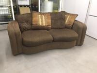 """Fabric three seater sofa""""FREE LOCAL DELIVERY """""""