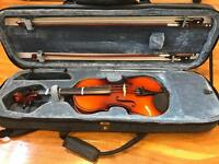 1/2 size violin with case + accessories