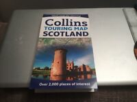"""Collins Touring Map of Scotland - paper! 5miles:1"""" New - unused"""