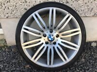 SINGLE 19INCH 5/120 BMW SPIDER ALLOY WHEEL WITH TYRE