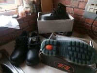 2 PAIR OF WORK BOOTS AND SHOES