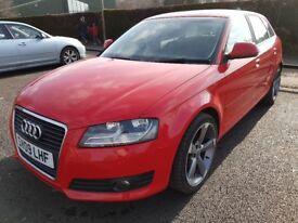 Audi A3 Sportback 2009 1.9tdi Ecomotive 5 door, £30 Road Tax