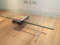 Coffee table in glass