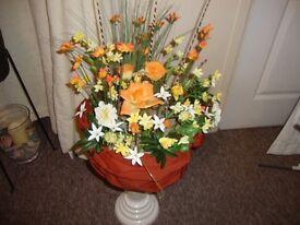HAND CRAFTED Artificial Flower Arrangement