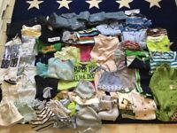 Bundle of baby clothes, 0-6 months
