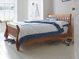 Brand New Double Solid Wood Sleigh Bed Frame