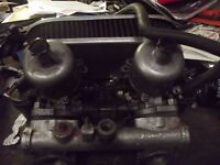 "CLASSIC MINI PAIR OF TWIN 1.5"" SU CARBURETTORS ON MANIFOLD WITH K & N FILTERS"