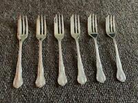 Silver Plated Pastry Forks