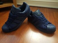Genuine adidas superstar blue quilted trainers 8