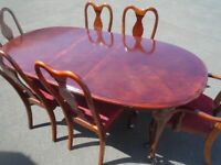 TABLE AND 6 CHAIRS at Haven Trust's charity shop