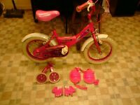 LITTLE GIRLS BICYCLE AND ACCESSORIES