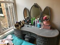 Old beautiful Dressing table with 3 mirrors