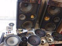 Gale GS401 Classic vintage loudspeakers in need of refurbishment + lots of spare speakers