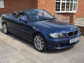 2006 Bmw 318ci se cabriolet Metalic Blue with black leather