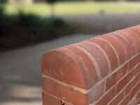 Half Round Coping | Soft Red Brick | Reclaimed style | Clay | 229 x 114 x 68mm