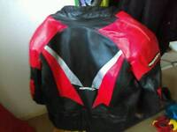 Scott motorcycle leather jacket with pads