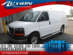 2016 GMC SAVANA CARGO 2500 COURT,V8,AIR
