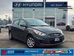 2012 Hyundai Accent GLS|HEATED SEATS|BLUETOOTH|KEYLESS ENTRY|