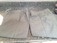 2 pairs M&S girls grey school trousers age 9-10 £5