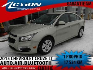 2015 CHEVROLET CRUZE LT TURBO AUTO,AIR,MY LINK,BLUETOOTH