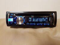 CAR HEAD UNIT JVC MP3 CD PLAYER WITH BLUETOOTH MIC USB AUX 4x 50 AMPLIFIER AMP STEREO RADIO BT
