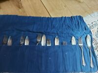 Mappin & Webb silver set of 6 fish knives & forks
