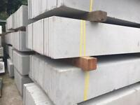 Plain Concrete Fencing Base Panels * New Posts