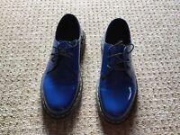 Doc Martens blue patent shoes Size 5 Worn once