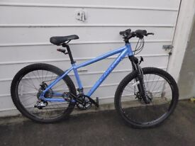 """Ladies Mountain Bike - Carrera Vulcan 16"""" - hardly used, good condition with disc brakes"""
