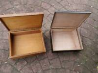 Wood tool boxes X 2