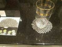 HARRODS - Designer Chilewich Coasters 12 - Gunmetal Colour