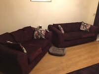 Purple Fabric Sofas