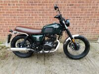 Brixton BX 125 ,2019 125cc Bargain!!! legal learner motorbike retro style (as mutt triumph )