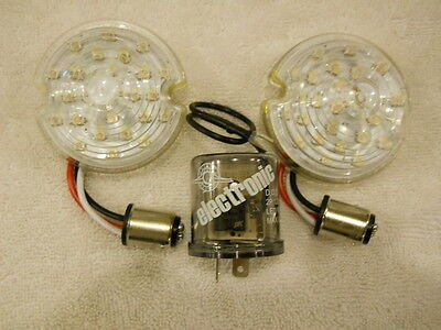 CORVETTE LED  1956 TO 1957 PARKING LIGHT ASSY CLEAR LENS +FLASHER SAFER BRIGHT
