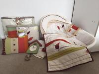 Mamas & Papas moses basket, bumper, quilt & accessories bundle