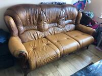 THREE PIECE SUITE LEATHER SOFA. Free delivery!!!