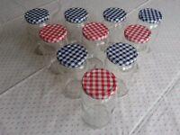 10 Jam Jars with unused lids