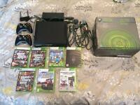 Xbox 360 Elite + 7 games & 2 controllers