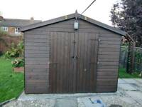 """Ultimate Man Cave / Garden Shed 20' x 10' x 8'4"""" Windows/Double Doors extra high and premium wood"""