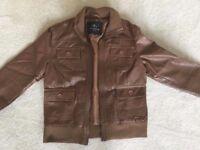 Women's Tan Leather Jacket