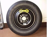 Space saver spare wheel T125/90 R15