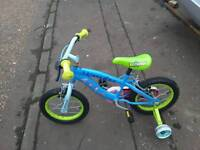 Nice strong we kids bike sute age 4 plus,,my boy has out grown it,,