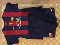 Children's Nike FC Barcelona football kit age 6 to 7 with Messi number 10