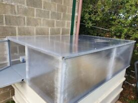 Fiberglass tank and top frame