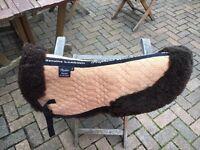 Sheep skin half saddle pad