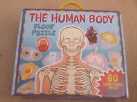 60 large piece puzzle of the human body